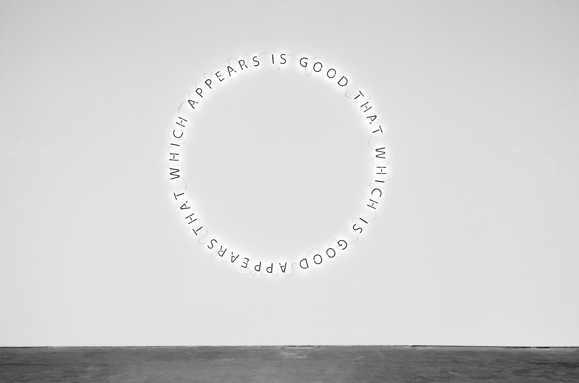 Famed, Untitled [That Which Appears Is Good That Which Is Good Appears]